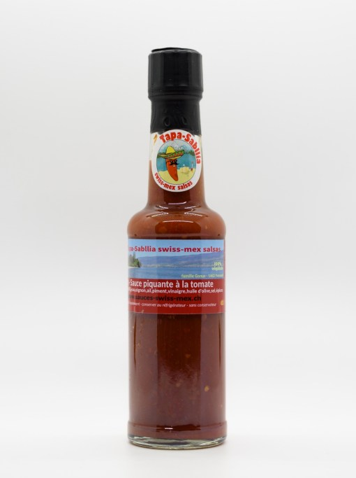 hotsauce swiss-mex la 3 piments sauce piquante à la tomate 150ml