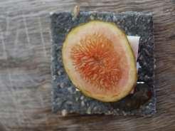 cheese, fig, honey canape recipe