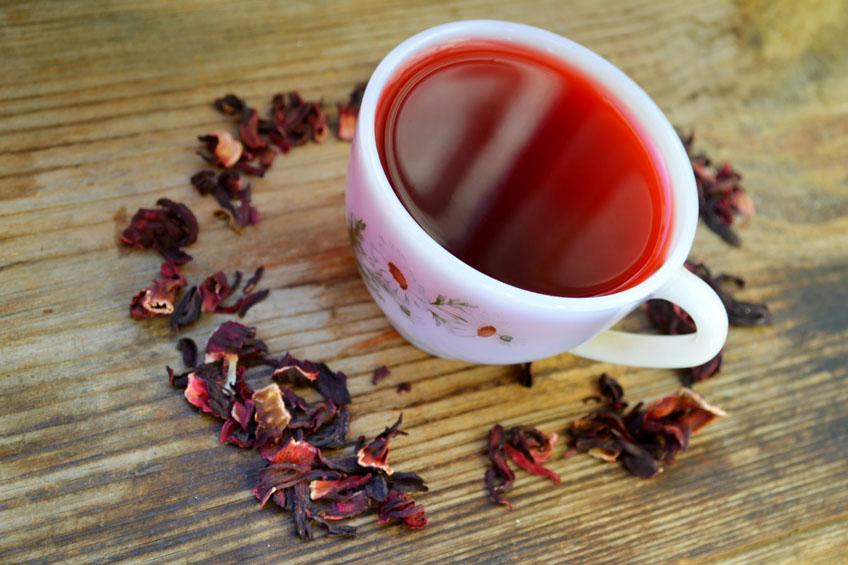 Chá de Hibiscus Sabdariffa