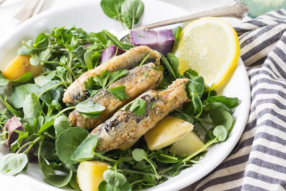 peixe empanado assado