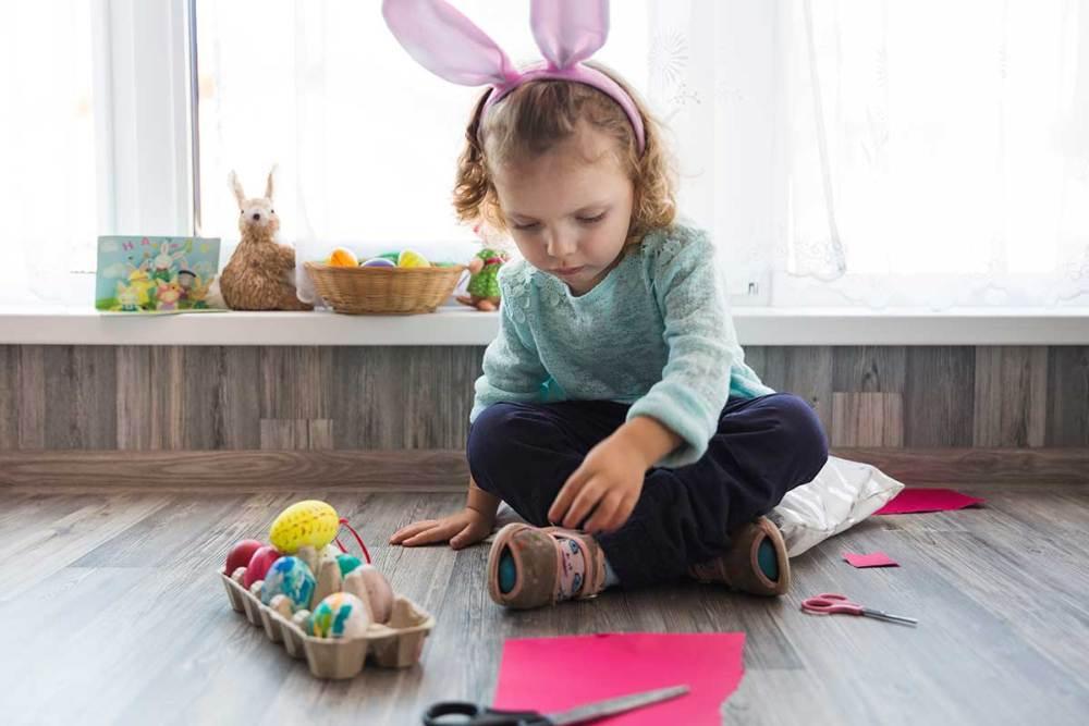 ovo de Páscoa para crianças