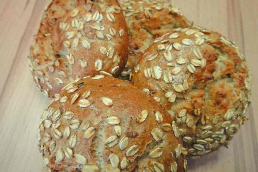 pão de aveia low carb