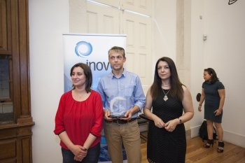 Carina Gomes, Vereadora da Câmara Municipal de Coimbra, Marcos Mariz e Paula Ferreira, promotores do InEye