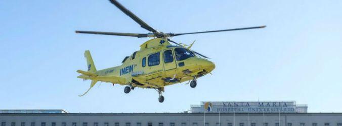 Helicópteros do INEM fizeram três missões/dia em 2019