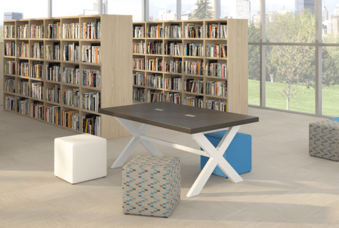 Spec Furniture annex table with power