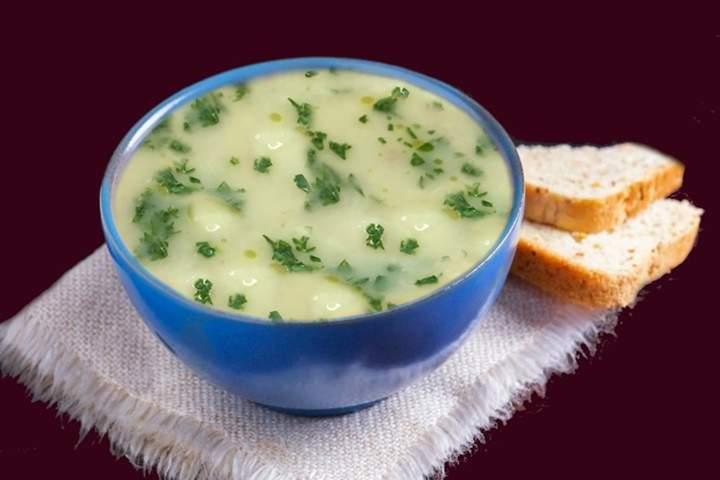 Sopa de Inhame com Carne Seca