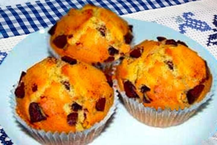 Muffin de Laranja e Chocolate