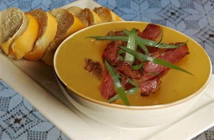 Sopa de Mandioquinha com Laranja