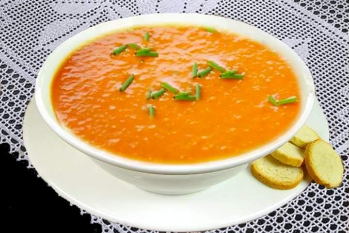 Sopa Cremosa de Cenoura com Gengibre