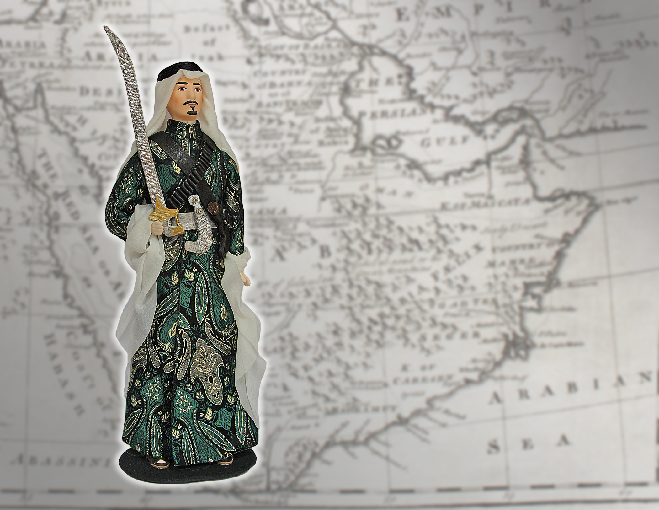 Saudi Arabesque Porcelain Souvenir Doll In Al Ardha