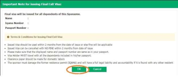 Terms and Conditions for Issuing Final Exit Visa-SaudiExpatriate.com