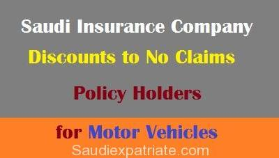 Discount to Policy Holders by Saudi Insurance Company-SaudiExpatriate.com