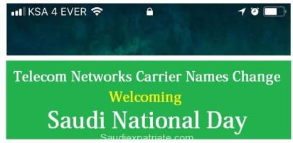 Telecom Networks Carrier names Welcoming KSA 4 EVER for Saudi National Day-SaudiExpatriate.com