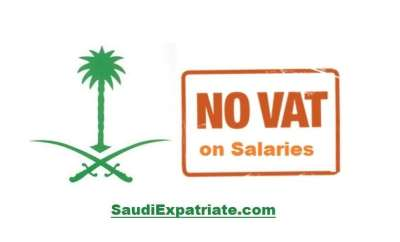 VAT not to be applied on Salary in Saudi Arabia