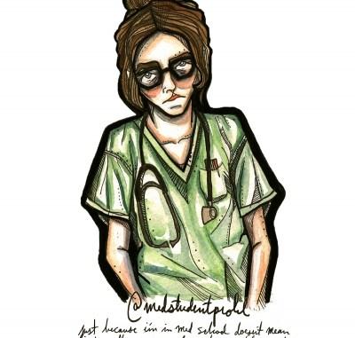 طالبة طب