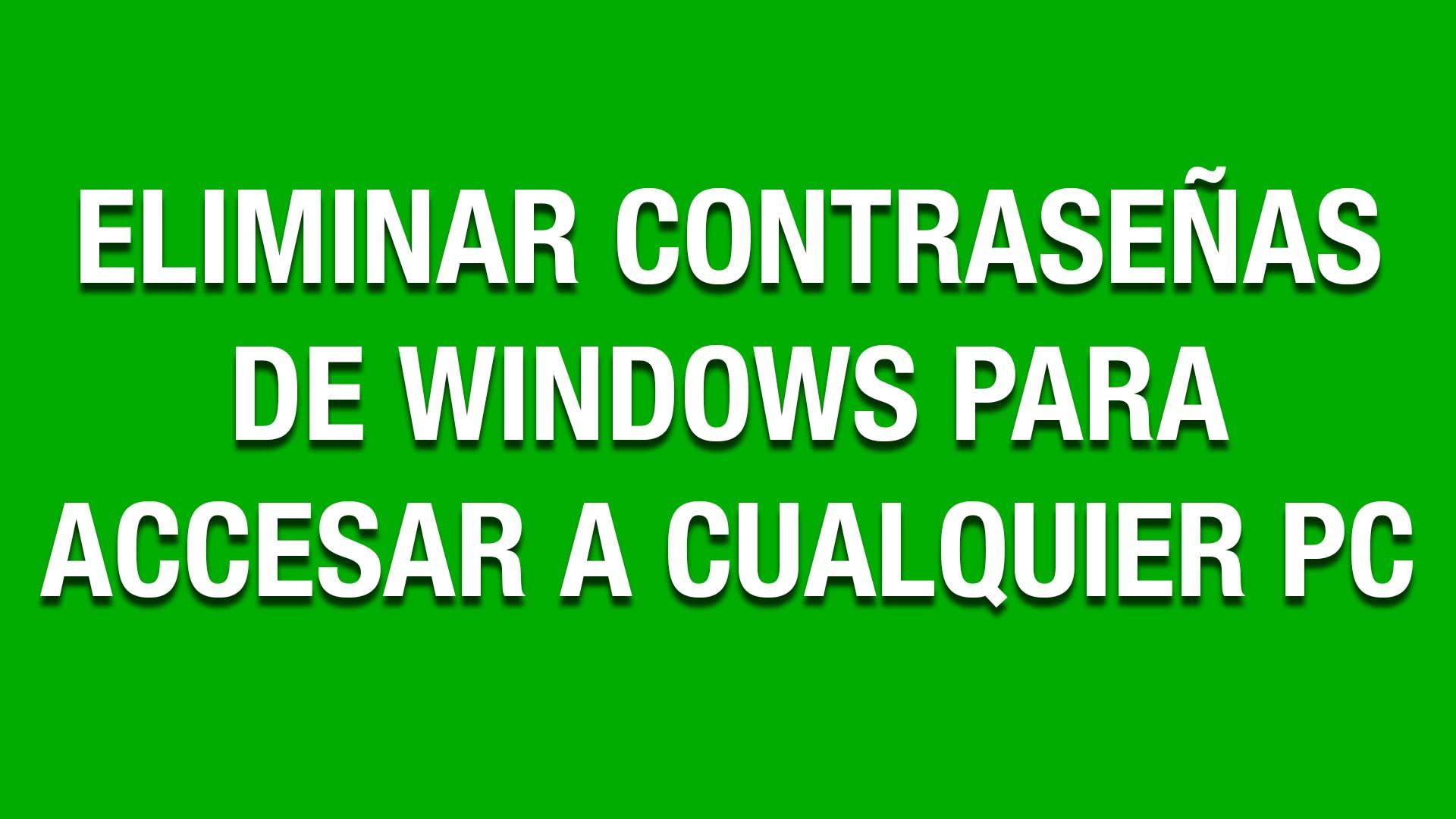 En este tutorial les muestro como Eliminar o Cambiar las Contraseñas de Windows para Accesar a Cualquier Computadora.
