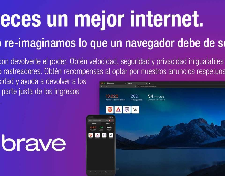 Brave es el mejor navegador de internet