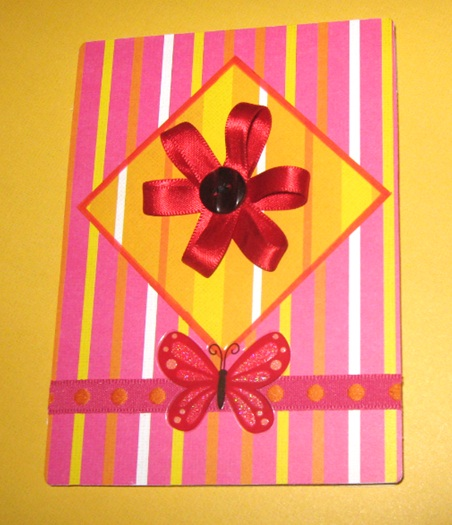 Ribbon Flower cards (2/3)