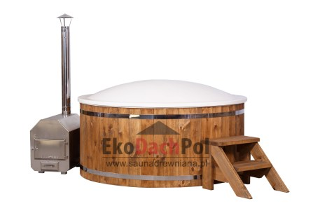 White Wellness hot tub with external heater_3