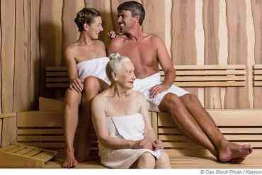 Schwitzen in der Sauna als Herzpatient