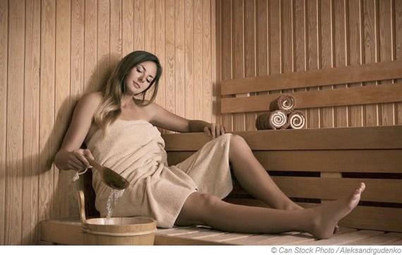 Schwitzen hilft beim Fasten, den Körper zu reinigen