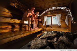 Der Sauna Aufguss