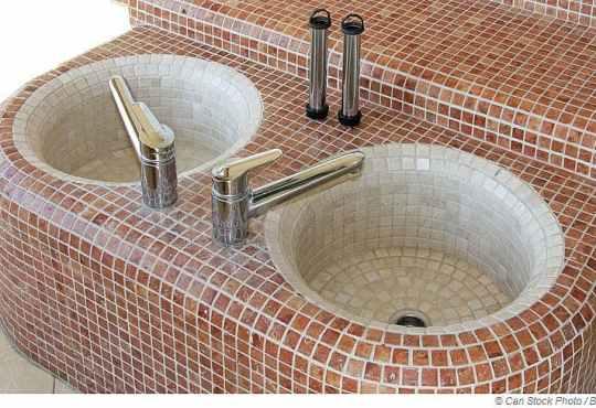 Ein warmes Fußbad vor und nach der Sauna fördert das Schwitzen