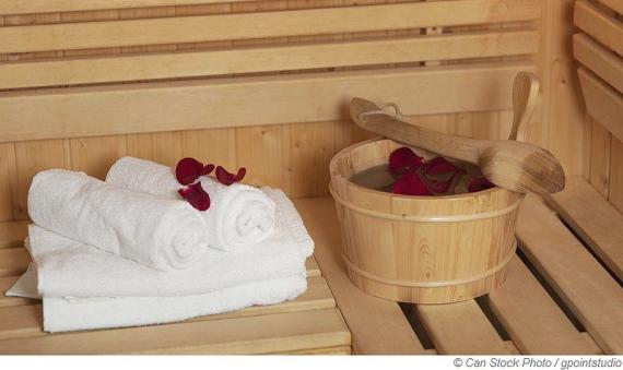 In der Sauna auf Duftwolke sieben schwitzen
