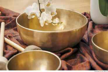 Klangschalen Musik für die Sauna