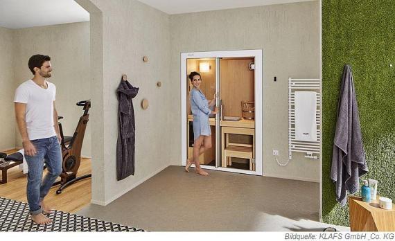 Mit der Sauna S1 wird das Saunabad zum Vergnügen