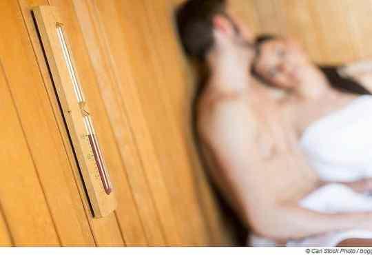 Woran erkenne ich einen Sauna-Spanner?