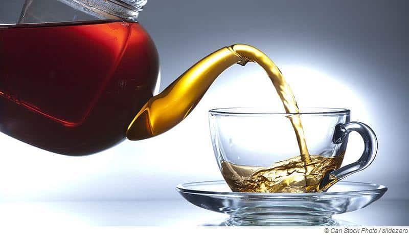 Trinke einen Erkältungstee