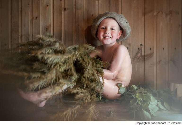 Ab wann ist die Sauna für mein Kind gut?