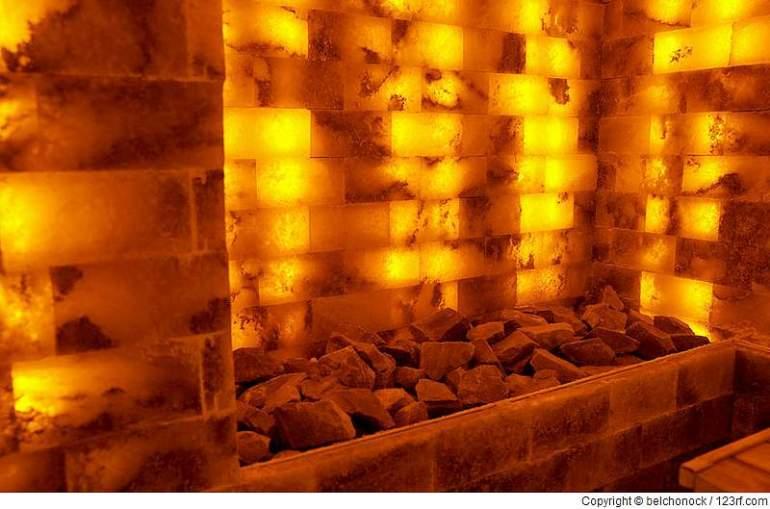 Klebetechniken für Sauna Salzsteine