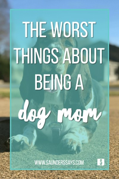 the worst things about being a dog mom! www.saunderssays.com #dogmom #furmom #poop