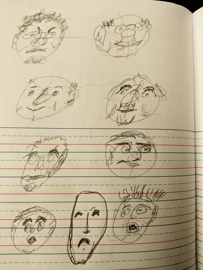 """Frist drawings, from """"Fun with a Pencil"""""""