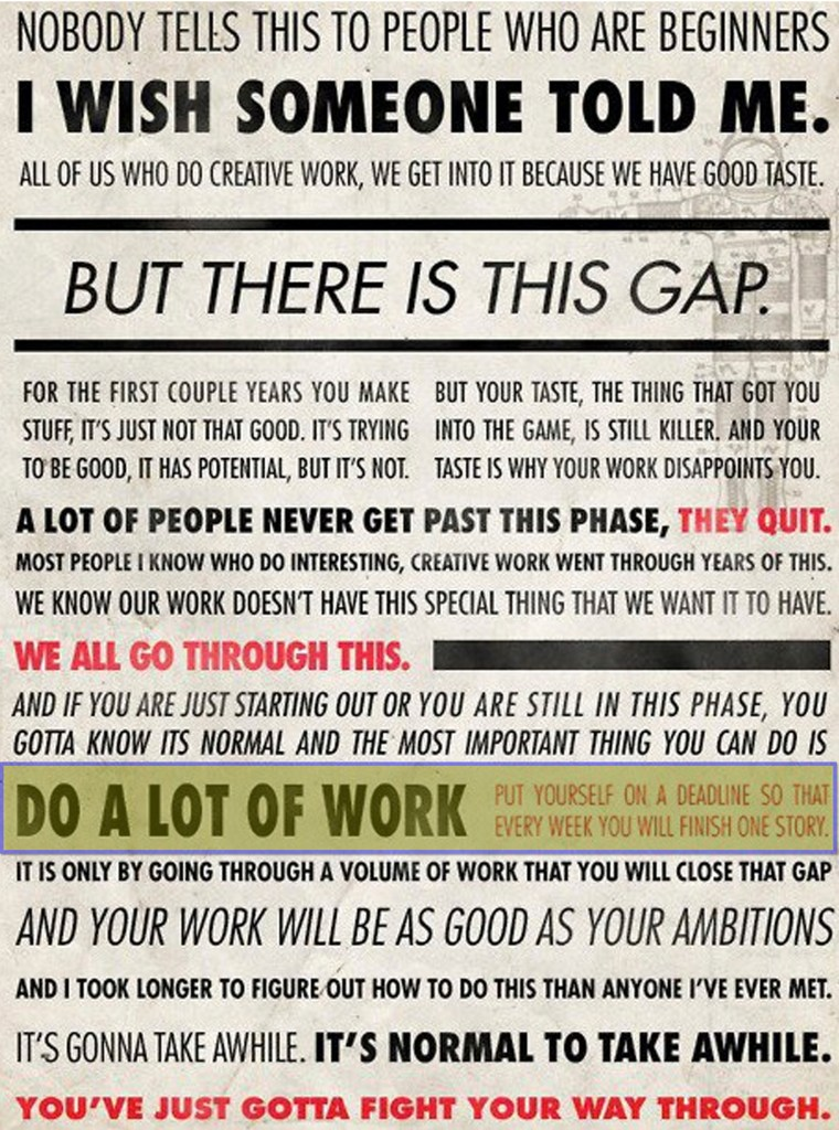 Ira Glass advice to creatives
