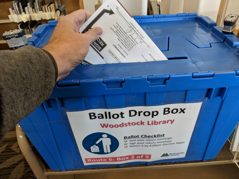 2018 Home Voting Ballot Drop