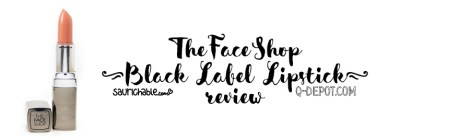 Review: The Face Shop Black Label Lipstick