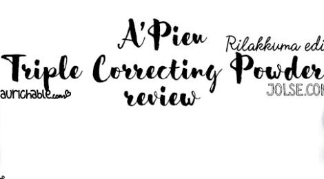 Review: A'Pieu Rilakkuma Triple Correcting Powder