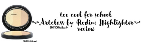 Review: too cool for school Artclass by Rodin Highlighter