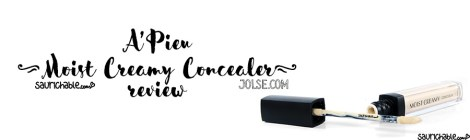 Review: A'Pieu Moist Creamy Concealer