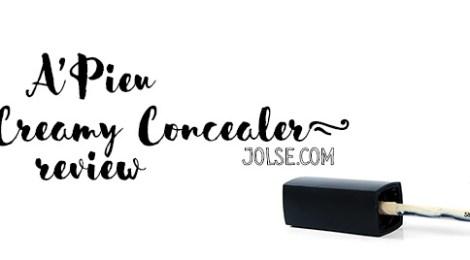 Review: A'Pieu Moist Creamy Concealer