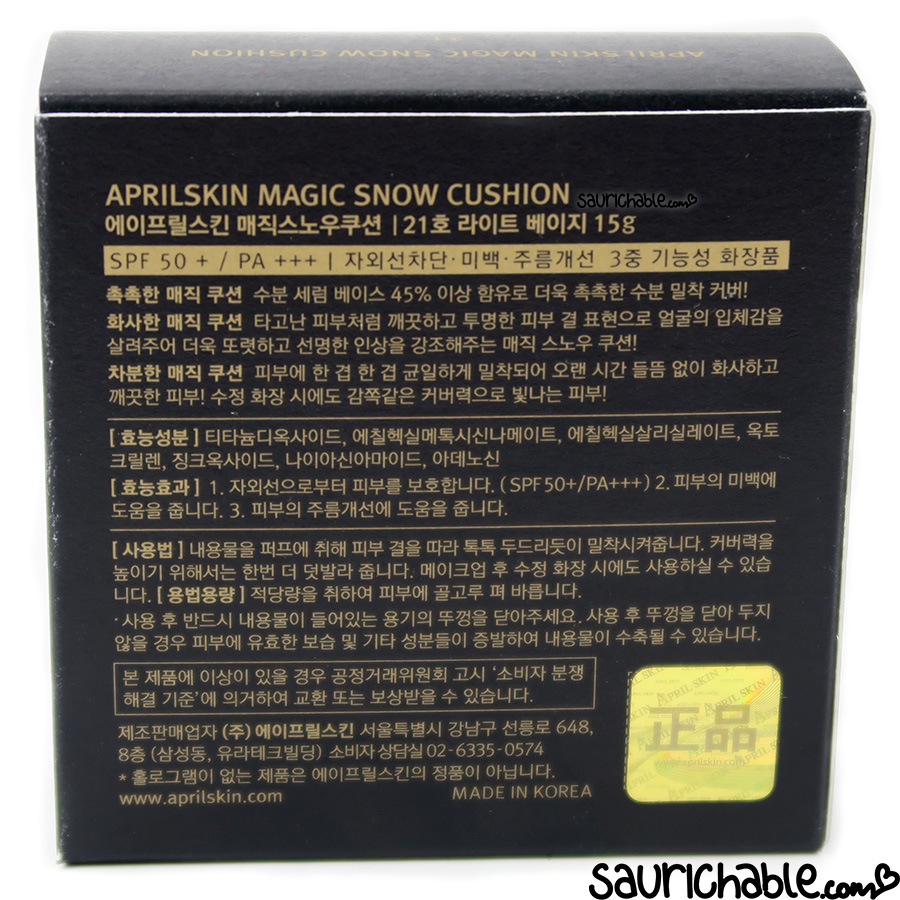 April Skin Magic Snow Cushion 2.0 review