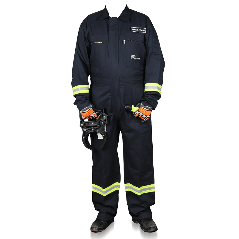 Westex flash fire resistant-coverall navy blue colour square