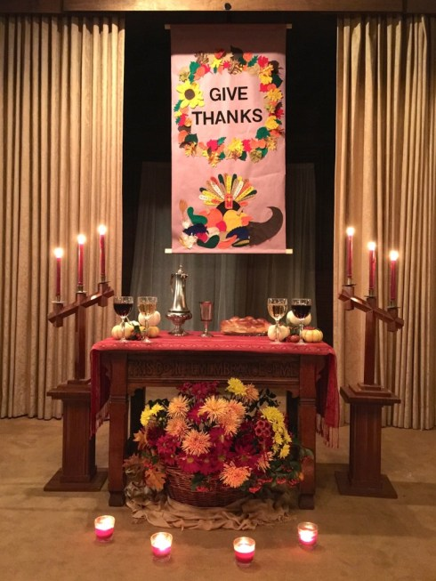 Give Thanks w candles