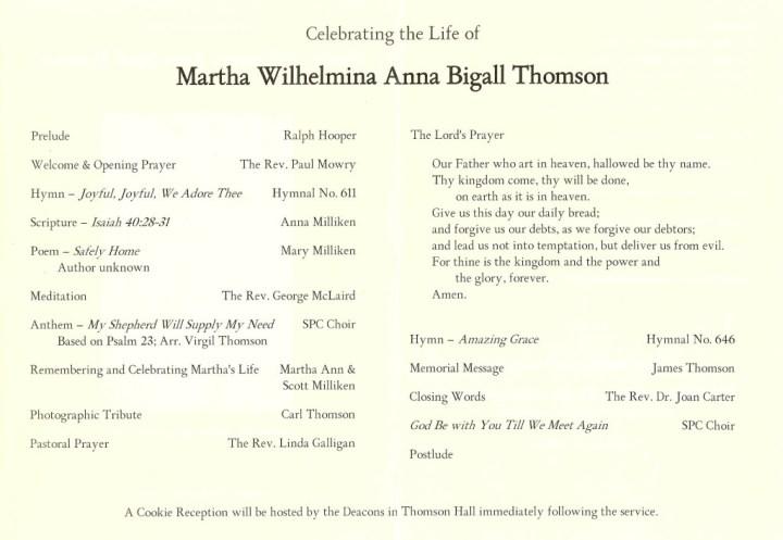 Martha program 1