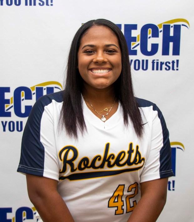 Black girl with softball top