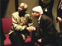 John Savage with Nelson Mandela