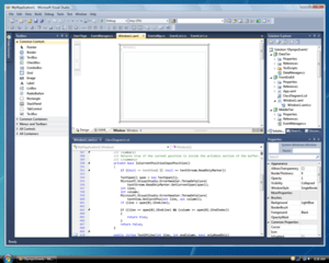 Visual Studio 2010 features a new UI developed...